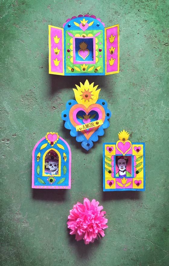 Nicho printable craft activity ideas: Shadow box and frame templates!