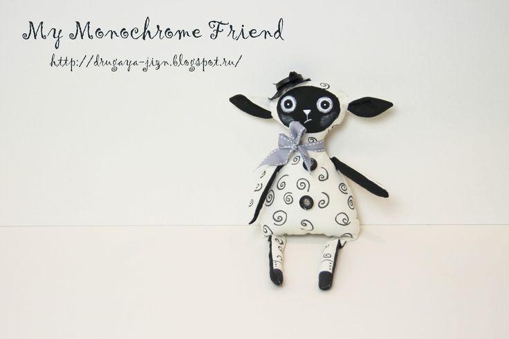 Медитация с иглой и пяльцами...: Мой монохромный друг/My Monochrome Friend