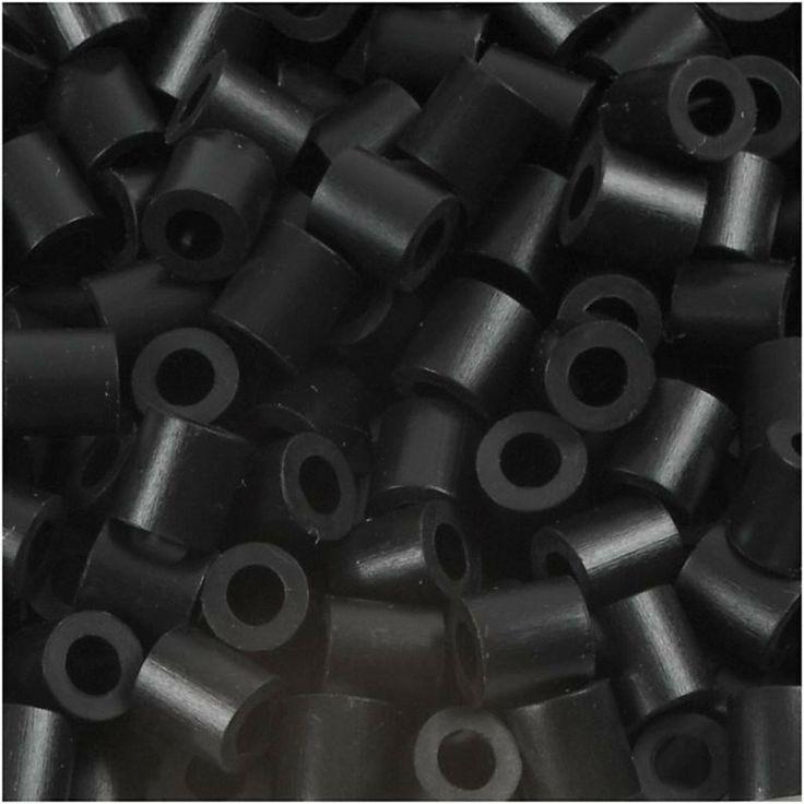 Perline da stirare 1100 pezzi colore nero, perline a fusione Nabbi beads, pyssla