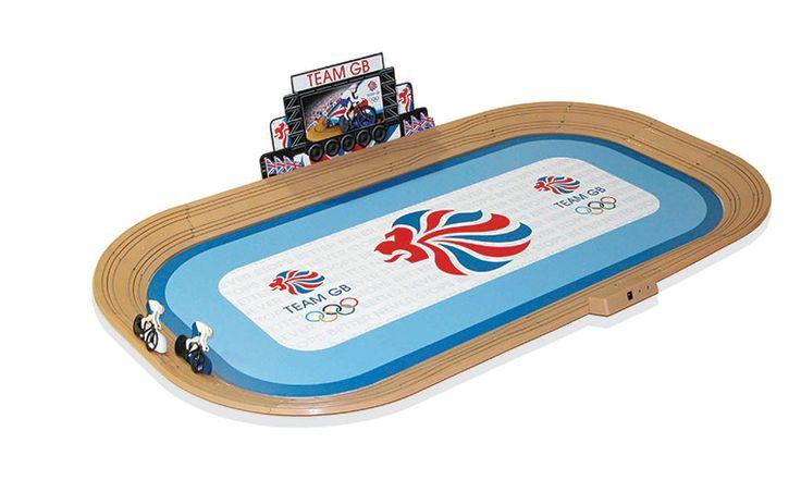 Olympics merchandise: Olympic velodrome Scalextric set