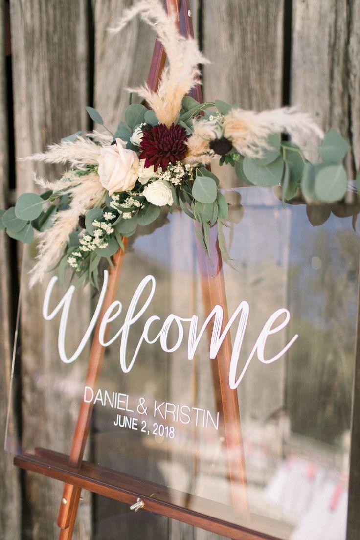 Boho Wedding Bride to Be Acrylic Wedding /& Event Welcome Sign Event Planning Wedding Planning Rustic Wedding