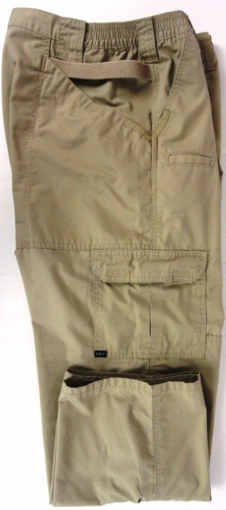 5.11 Tactical 44X30 Mens Rip-Stop Khaki Pants Tac-143 Cargo Phone Pocket Beige #511Tactical #Tactical