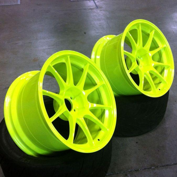 Fluorescent Yellow Neon Sport Rims Yellow Rims For