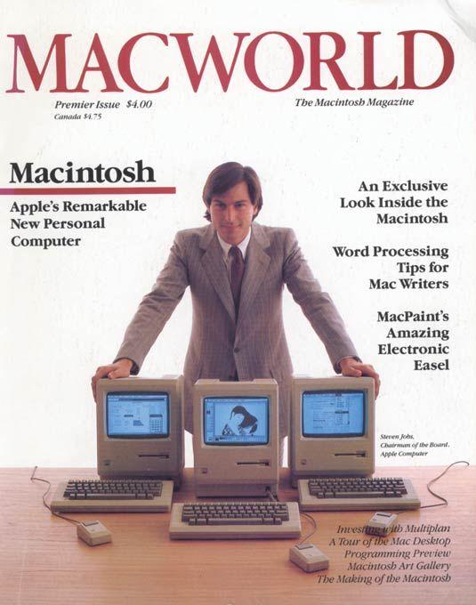 Steve Jobs in 1980's Mac World magazine (macworld, 2015)