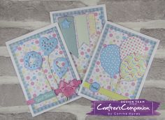 A six piece card pack using Sara's Signature Birthday Party collection. Designed by Gemma Hynes #crafterscompanion