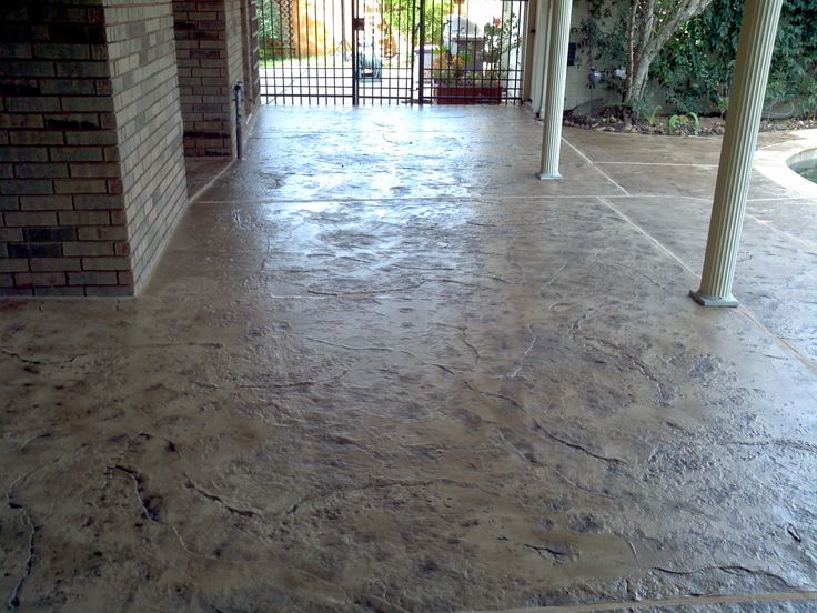 Stamped Overlay Quot Old Granite Quot Texture Concrete Overlays
