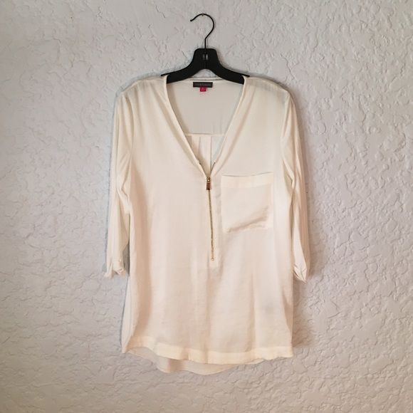 White Blouse With Gold Zipper 28