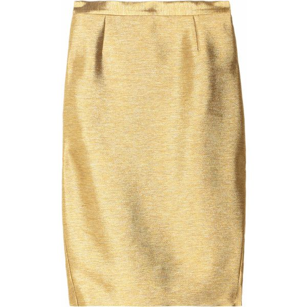 25  best Gold pencil skirt ideas on Pinterest | Elie tahari, Lace ...