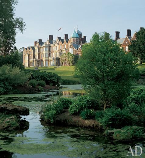 Sandringham House,  Norfolk, UK the Royal family traditionally spend Christmas here