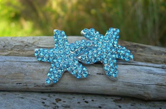 Starfish Hair Clip or BarretteAQUA by sandnsurfcreations on Etsy, $27.95