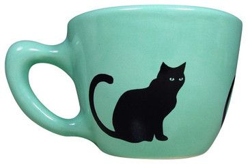Black Cat Cup - craftsman - Cups And Glassware - Circa Ceramics