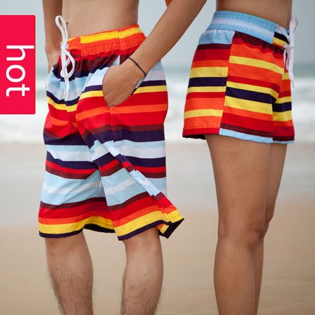 2013 new fashion  beach shorts  for women and men swimming  big size Board Sports shorts male loose lovers pantstraveling stk001 $5.50 - 6.20