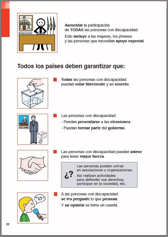 Plan de acción para las personas con discapacidad 2006-2015.        Este documento es el resultado de la adaptación española, en fácil lectura y pictogramas de ARASAAC, del Plan de Acción sobre Discapacidad 2006-2015 del Consejo de Europa.