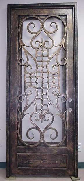 Solid Iron Doors http://www.customglassdoors.com/doors/iron_1256.html