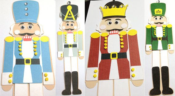 Paper nutcracker craft kit for kids christmas by mimiscraftshack