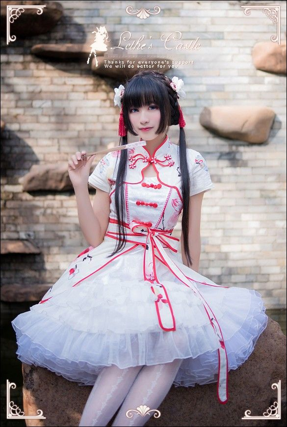 Lathe's Castle ***Peach Blossom*** Printed Lolita OP Dress $96.99-Lolita Dresses - My Lolita Dress