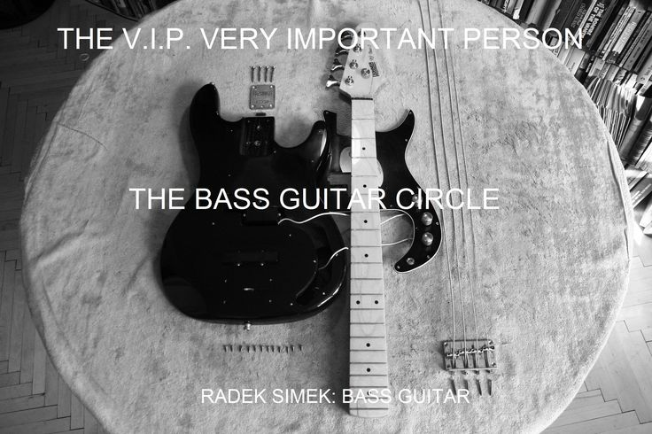 THE V.I.P. VERY IMPORTANT PERSON THE BASS GUITAR CIRCLE RADEK SIMEK: BASS GUITAR