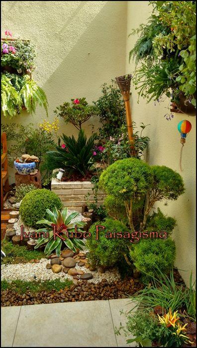 Como formar um jardim num espaço pequeno? Essa dúvida é muito ...