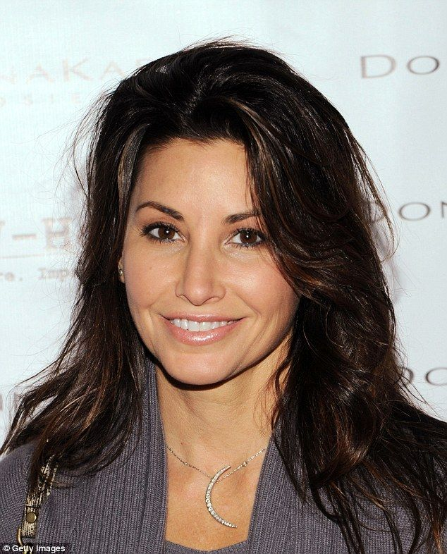 Loving this necklace... She also wears it in Maron. Gina Gershon, Crescent moon pendant necklace.