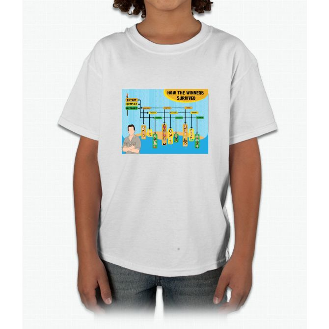 Survivor Winners Infographic Young T-Shirt