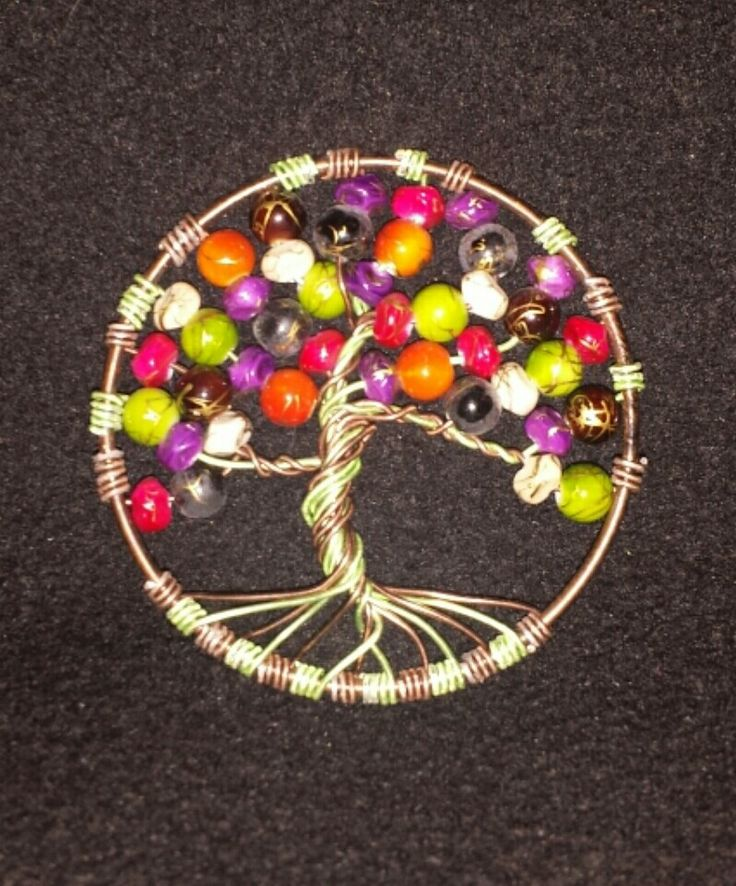 Old beads, some soft wire and an old bangle. Now I have my own little tree of life.