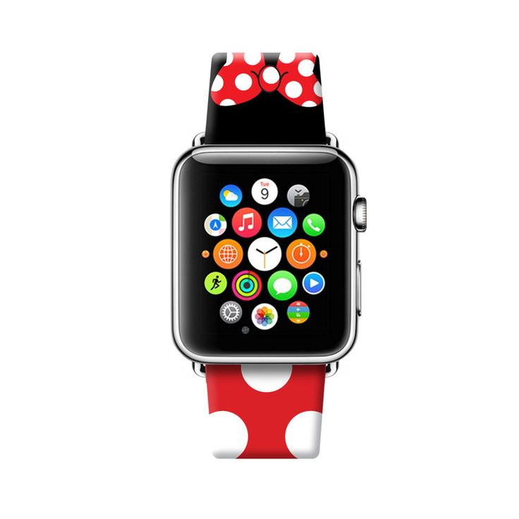 Red Black Inspired by Minnie Apple Watch Strap 38 42 mm – UltraCase