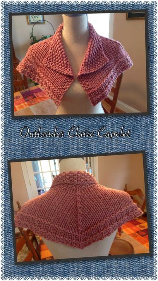Celtic Heart Knitting and Quilting: Outlander Claire Capelet