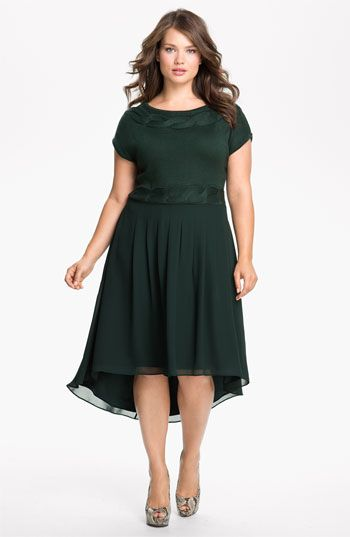 Jessica Simpson Mock Two Piece Asymmetrical Dress (Plus size) available at #Nordstrom