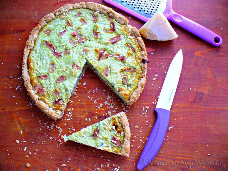 Špaldovo-žitný brokolicový quiche