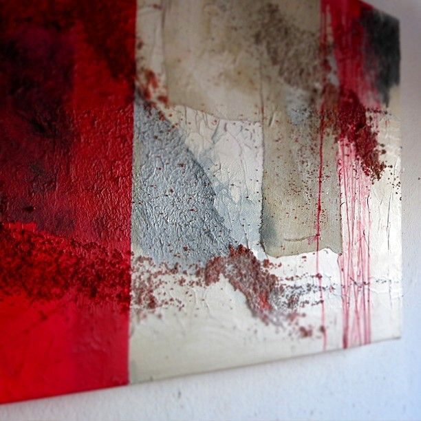 #corrida #acrilico #tela #carta #sabbia #painting #interiordesign #milano #art #canvas #abstractart #homedecor #interiordecor #interiordesign #painting #contemporaryart #acrylicpainting #acryliconcanvas #acrylicart #artwork #artist #instaart #arts_gallery #topdraw #art #impasto #artlovers http://www.interiorart.it/corrida-quadro-acrilico-rosso-bianco.html