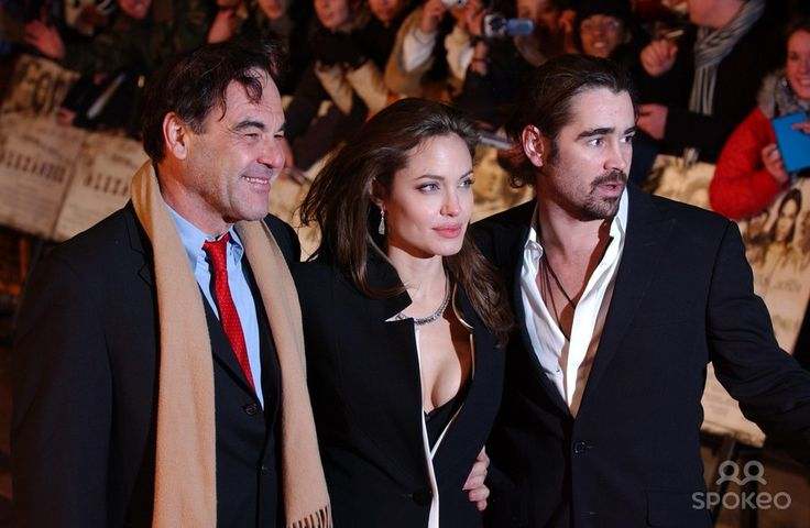 Oliver Stone, Angelina Jolie and Colin Farrell Premiere of 'Alexander' held at the Odeon in Leicester Square
