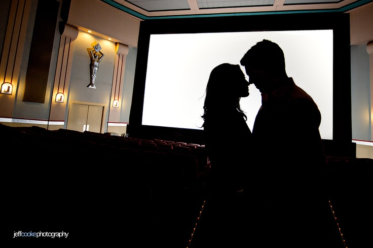 Let's go to the movies! engagement shoot | Jeff Cooke Photography