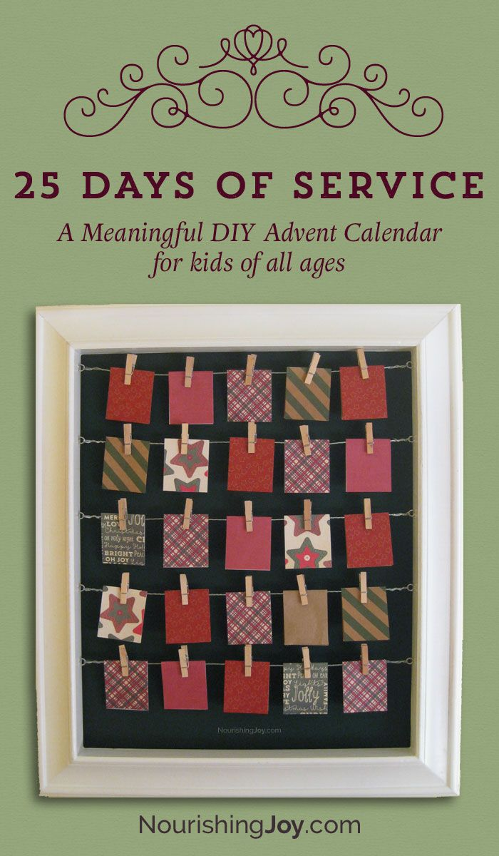 A meaningful list of service projects for kids + a DIY Advent Calendar tutorial that can be used ANY time of year!