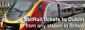 Buy a train & ferry ticket from London to Dublin online...