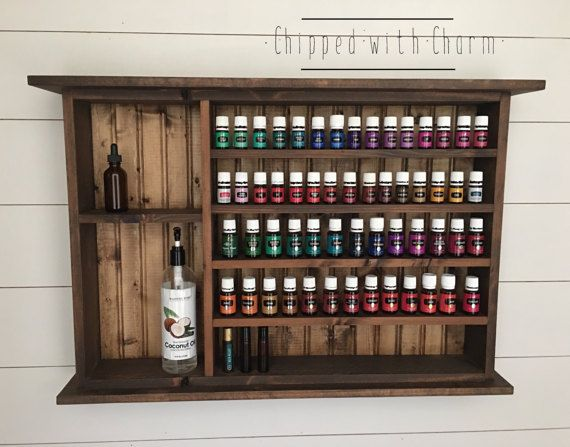 Essential Oil Shelf Large Essential Oil by ChippedWithCharm