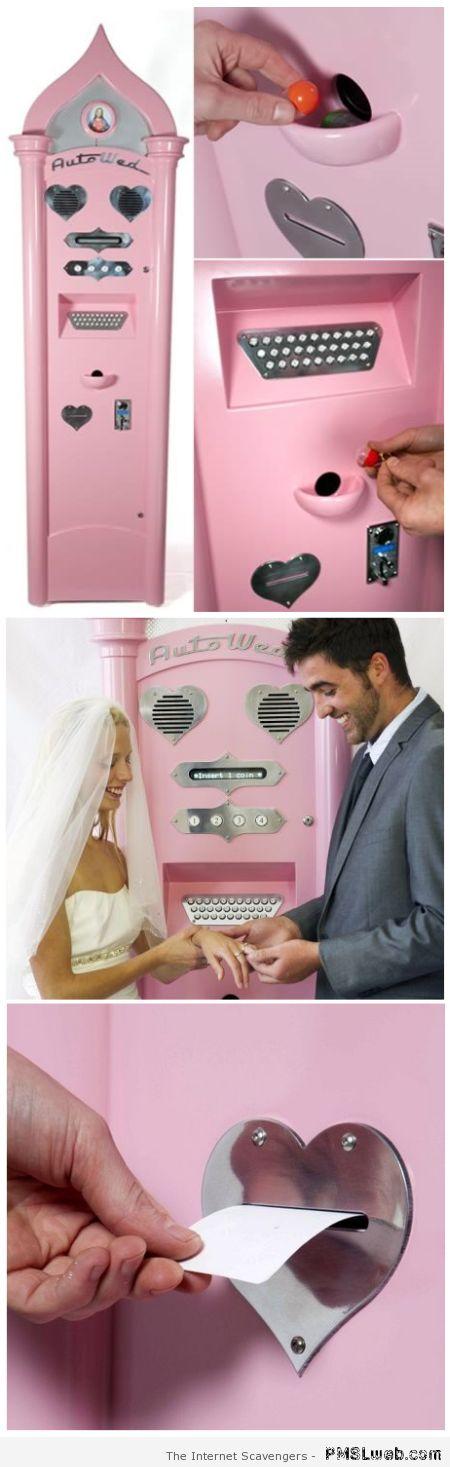 Wedding vending machine at PMSLweb.com