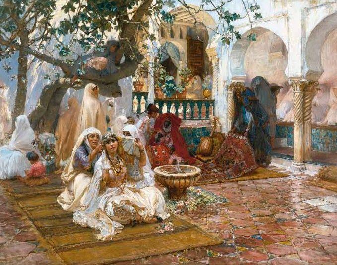 Frederick Arthur Bridgman – Preparations for the Wedding, Algiers