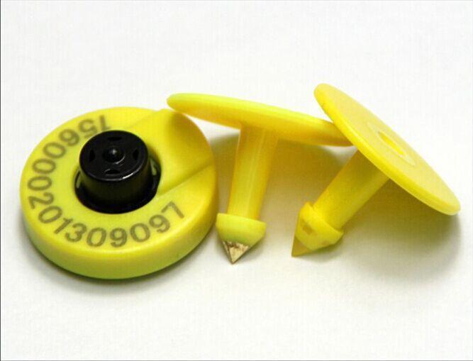 134.2 키로헤르쯔 ISO 11784/785 FDX-B rfid 동물 귀 태그 애완 동물 소 양 돼지 관리 100 개/몫