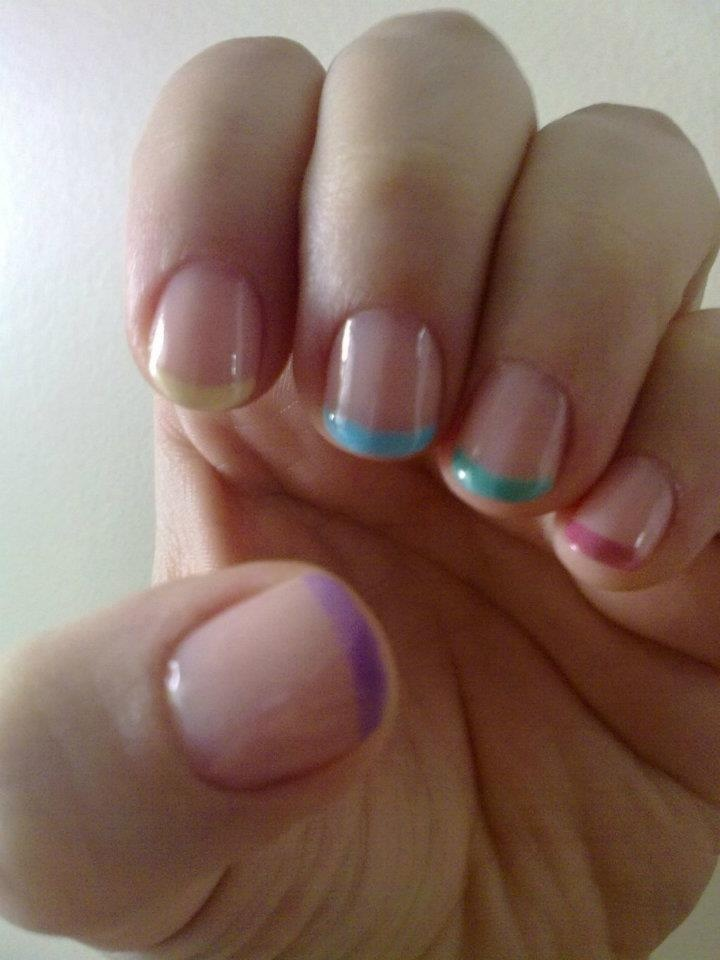 Colored french manicure!