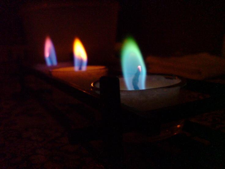 multi colour candles