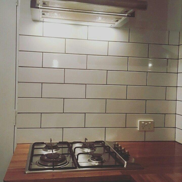 Subway tiles ! Black grout