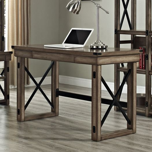 Altra Furniture Wildwood Writing Desk with Metal Frame  House