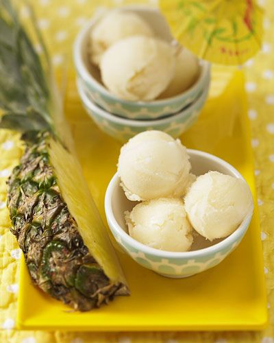 healthy treat: pineapple sorbet
