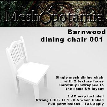 Meshopotamia Barnwood Chair 001 w AO texture