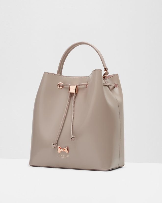 Micro bow bucket bag - Mid Purple | Bags | Ted Baker UK