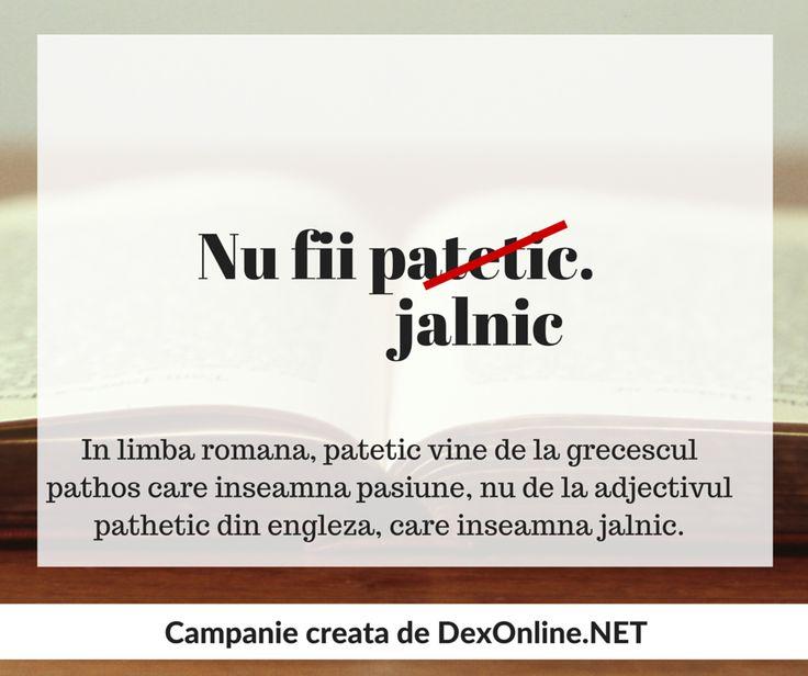 Salvam limba romana impreuna! #salveazalimbaromana #amuzante #anunturi #dex http://dexonline.net/definitie-patetic