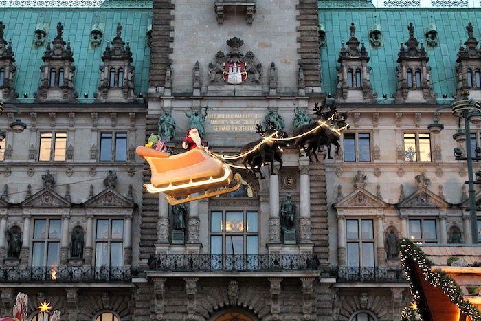 Hamburg im Winter-Schlitten Hamburg