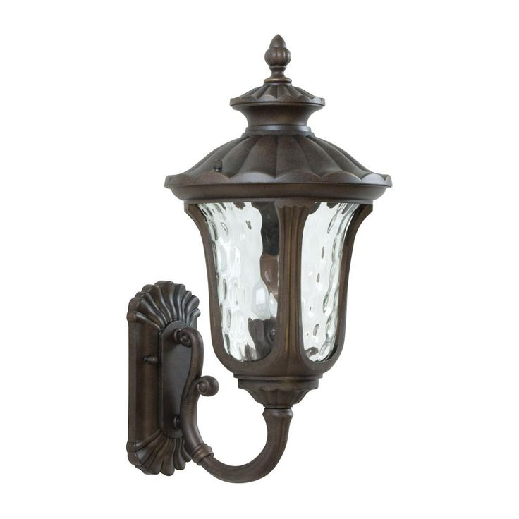 Sheffield Series Wall Light   Aged Bronze Glass: Clear Hammered Style:  Traditional Backplate: