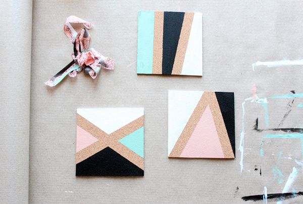 What You'll Be CreatingCork board, paint and geometric lines are all you need to create these gorgeous color block coasters. Plus, they're a cinch to make, and won't cost the earth in...
