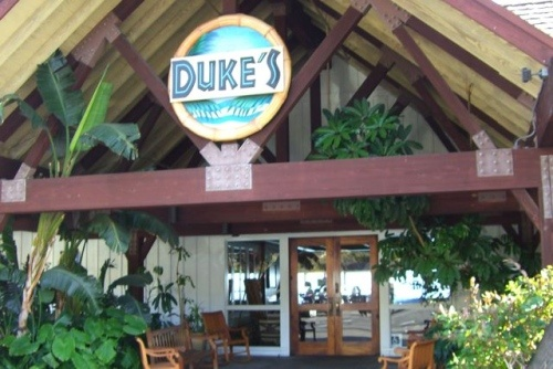 "Dukes Restaurant In Malibu. 21150 PCH.  Hawaii dreamin' in California at Duke's Malibu restaurant right on the well known PCH. Named for the Hawaiian Kama'aina (native) and famous ""Father of International Surfing"" as well as Olympic Swimming Gold Medalist, Duke Kahanamoku (1890-1968), Duke's Malibu has photos of Duke surfing and Hawaiian decor throughout the restaurant.    Hawaiian music and tropical flora greet you as you walk to the entrance doors of Duke's."